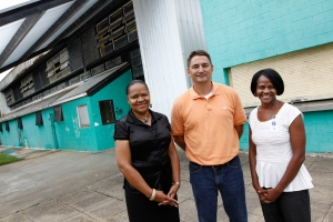 Selectwoman Andranette Jordan, Selectman-at-Large Tommy McKenzie, and Selectwoman Tammy Witherspoon formed a committee to work through ideas for the community center and gym. By Philip Hall, Enterprise-Journal.
